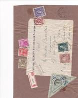 Etiquette De Colis Recommandée De Belgique Taxée à 35f - Poststempel (Briefe)