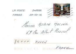 FRANCE. N° A1210 De 2015 Sur Enveloppe Ayant Circulé. Mairie De Clamart. - Adhésifs (autocollants)