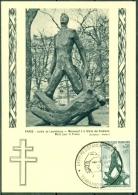 CM- Carte Maximum Card # 1964-France # 2° Guerre #Libération,Befreiung ,Resistance # Monument # Sculpture   # Terrasson - Cartes-Maximum