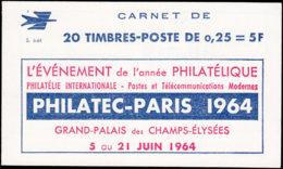 FRANCE Carnets  1263-C4, Série 6-64: 0.25f. Marianne De Decaris, Publicités Philatec Sur Marges - Carnets