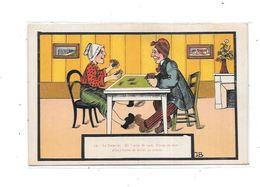 CPA Illustrateur, Joueurs De Cartes, - Cartes à Jouer