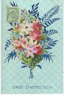 Gage D'Affection - Découpis - Bouquet Fleur Dont 2 En Tissus - Autres