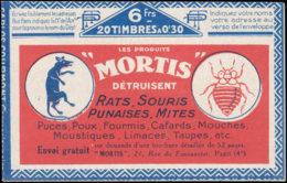 FRANCE Carnets  192-C2, Série 101O: 30c. Bleu Semeuse. Gibbs 4 Fois /Mortis Rat*/punaise*/Dony - Carnets