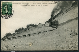 Sur Le Flanc Du Puy-de-Dôme - Le Tramway à La Montée Du Col De Ceyssat - 3510 ELD - Voir 2 Scans - Tramways