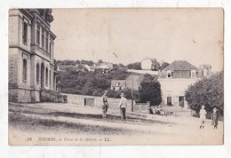 CArte Postale           Carte Photo Juziers Place De La Mairie - Other Municipalities