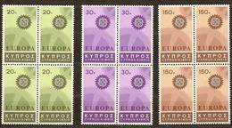 Chypre Cyprus Cept 1967 Yvertn°  284-286 *** MNH 4 Séries   Cote 36 Euro - Chypre (République)