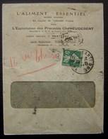 Nanterre 1912 L'aliment Essentiel Exploitation Des Procédés Heudebert - Postmark Collection (Covers)