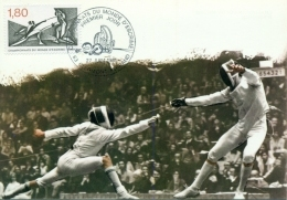 CM-Carte Maximum Card # 1981-France # Sport # Escrime,Fechten-WM ,fencing ,world Championship # Clermont-Ferrand - Cartes-Maximum