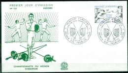 FDC  # Andorre-French Andorra-1981 # Sport #Escrime,Fechten-WM,fencing,world Championship,championnats Du Monde. - Scherma