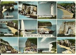 76 Multivues Etretat Fécamp Yport Saine Adresse Cauville Les Petites Grandes Dalles Falaise De Bruneval Cap De La Héve - Autres Communes