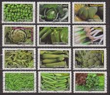 Agriculture, Jardin, Légumes - FRANCE - Salades, Piments Verts, Haricots, Poireaux, Poivrons, Artichaut, Chou - 2012 - Adhésifs (autocollants)