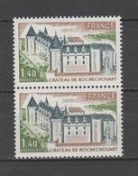 FRANCE / 1974 / Y&T N° 1809 ** : Château De Rochechouart X 2 En Paire - Gomme D'origine Intacte - France