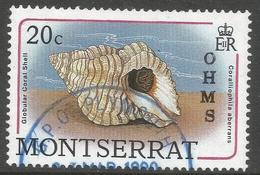 Montserrat. 1989 Official. 20c Used. SG O79 - Montserrat