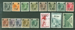 Allemagne  Luxembourg    Michel  17/32   Ob     TB - Occupation 1938-45