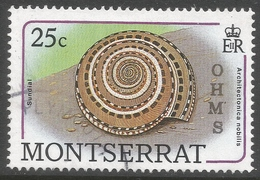Montserrat. 1989 Official. 25c Used. SG O80 - Montserrat