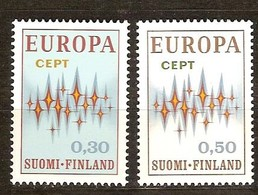 Cept 1972 Finlande Yvertnr. 665-66 *** MNH Cote 10 Euro - Finlande