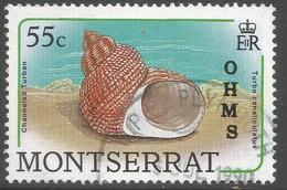 Montserrat. 1989 Official. 55c Used. SG O82 - Montserrat