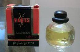 PARIS Bouchon Noir - EDT 7,5 ML De YSL - Miniatures Modernes (à Partir De 1961)