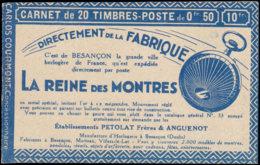 FRANCE Carnets  199-C46, Série 160, (un Exemplaire Grian Dans Le Papier D'origine): 50c. Semeuse Lignée, Touring-Florent - Carnets