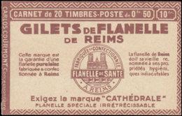 FRANCE Carnets  199-C46, Série 157, (lègère Froissure De Gomme D'origine: 50c. Semeuse Lignée, Touring-Florent-Florent-Q - Carnets