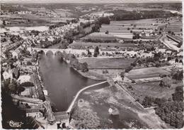 CPSM   SAINT GAULTIER 36  Vue Générale Aérienne Sur La Vallée De La Creuse - France