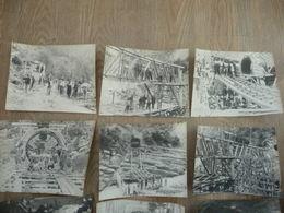 13 PHOTOS De L'avancement  D'un Chantier De L'USINE HYDROELECTRIQUE De BREIL (dépt 06) En 1926/27 - Albums & Collections