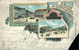 GOETTINGEN  Gruss Aus ...Chromolitho De 1900   ( Manque Le Coin Bas  Gauche) - Goettingen