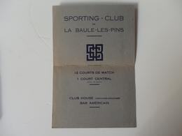 Papier Sur Le Grand Tournoi International Du Sporting-Club De La Baule-les-Pins (44). - Advertising