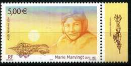 FRANCE PA N° 67a  DE MINIFEUILLE Marie MARVINGT BDF DROIT NEUF ** - Poste Aérienne