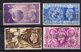 1948  UK Großbritanien: Mi. 237 - 240, O Gestempelt, Olympiade London 1948, Kompl. Satz, S. Scan - Sommer 1948: London
