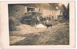 Loucé (Ecouché) Batteuse à La Ferme Ou Batterie Janvier 1926 Carte-Photo Rare - France