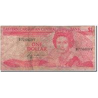 Billet, Etats Des Caraibes Orientales, 1 Dollar, KM:17v, B+ - Caraïbes Orientales