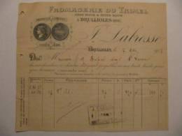 T062 / Facture Fromagerie De Trimel - Labrosse à Brullioles - Rhône - Invoices