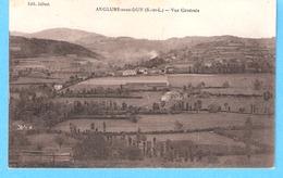 Anglure-sous-Dun (Chauffailles-S Et L)-écrite En 1927 Vers La Clayette-Vue Du Village-Edit. Jolivet-Phototypie Combier - Charolles