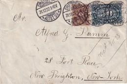 ALLEMAGNE 1922 LETTRE DE DRESDEN POUR NEW-YORK - Allemagne