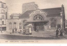 CPA PARIS (75) LA GARE DE SAINT-OUEN (XVIIIe) - ANIMEE - Pariser Métro, Bahnhöfe