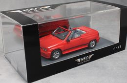 OPEL CORSA SPIDER I120 1985 RED NEO 45915 1/43 ROSSO ROT ROUGE CABRIOLET RESINE - Voitures, Camions, Bus
