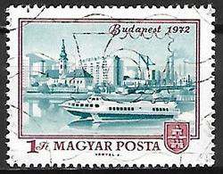 HONGRIE   -   1972 .   Y&T N° 2266 Oblitéré  .  Vue De Budapest  /  Bateau - Hungary