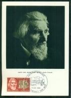 CM-Carte Maximum Card #1968-France # Célébrités # Celebrity # Saint-Pol-Roux ,Poète Francais ,poet #  Obl. Camaret-sur-M - Cartes-Maximum