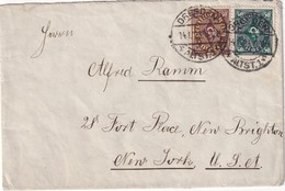 ALLEMAGNE 1923 LETTRE DE DRESDEN POUR NEW-YORK - Allemagne