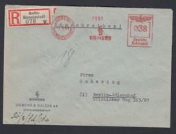 Deutsches Reich Reco Firmen-Orts-Brief  Absenderfreistempel AFS Fa. Siemens 1930 Bln Siemensstadt Bln Adlershof Lot 850 - Deutschland