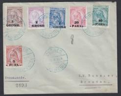 Albanien Einschreiben Brief 1914 Durres (Hafenstadt A D Adria) Nach Dresden Lot 876 - Albanien