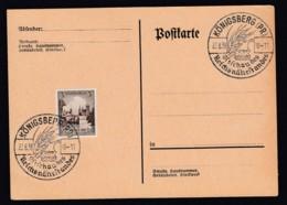 Deutsches Reich Postkarte Sonderstempel 1938 Königsberg Ungelaufen Lot 881 - Deutschland