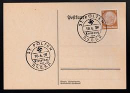 Deutsches Reich Postkarte Sonderstempel Kreistag Der NSDAP 1939 St. Pölten Ungelaufen Lot 907 - Deutschland
