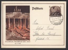 Deutsches Reich Postkarte Ganzsache P250 Augustusburg Nach Glösa B Chemnitz Lot 927 - Ganzsachen