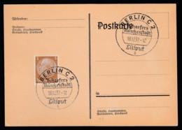 Deutsches Reich Postkarte Sonderstempel 1937 Berlin Ungelaufen Lot 976 - Deutschland