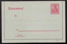 Deutsches Reich Germania Postkarte Kartenbrief Ganzsache K12 1902 Ungelaufen Lot 1005 - Ganzsachen