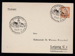 Deutsches Reich Bild-Postkarte 1937 Sonderstempel Chemnitz Nach Leipzig Lot 1048 - Deutschland