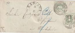 THURN UND TAXIS 1863 LETTRE DE BAD EMS - Tour Et Taxis