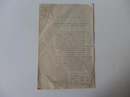 Lettre Du 7ème Corps D'armée, école D'artillerie, Champ De Tir De Pontarlier (25). Manoueuvre Et Tir Canon 155 Court. - Militaria